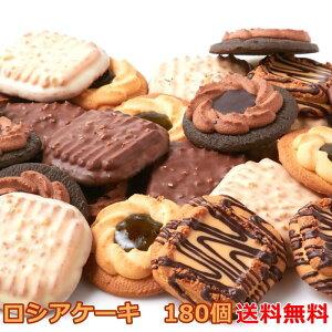 ロシアケーキ 5種 180個(36個×5)/個包装 洋菓子 クッキー 焼菓子 おやつ お菓子 ロシアン ビター ミルク キャラメル ホワイトチョコ キウイ チョコ 贈答 ギフト 大容量 業務用 大量 送料無料 [常