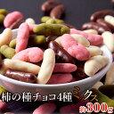 柿の種チョコ ミックス 4種 300g リッチ 詰め合わせ 日本製 ゆうメール出荷