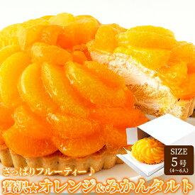 贅沢オレンジ&みかんタルト 5号サイズ フルーティー 冷凍商品 フルーツタルト ケーキ