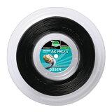 ゴーセンAKプロ16(1.24mm/1.31mm)ナチュラル・ブラック240Mロール硬式テニスガットマルチフィラメント(GosenAKPROString240mreel)TS7062-NA