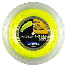 ヨネックス ポリツアープロ イエロー(1.20/1.25/1.30mm) 200Mロール Yonex Poly Tour Pro (1.20/1.25/1.30mm) 200m roll strings