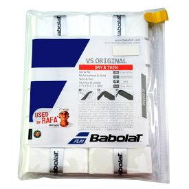 【12本入り】バボラ VS オリジナル (Babolat VS ORIGINAL 12 GRIPS) 【ホワイト】654010