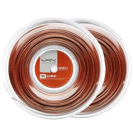 ルキシロン エレメント(1.25mm/1.30mm) 200Mロール 硬式テニス ポリエステル ガット(Luxilon Element 200m String Reel) WRZ990106