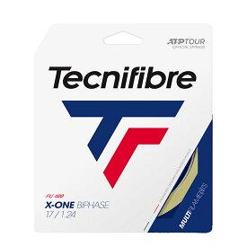 【パッケージ品】テクニファイバー エックスワンバイフェイズ(1.18mm/1.24mm/1.30mm)(ナチュラルカラー)硬式テニス マルチフィラメントガット(X-ONE BIPHASE )TFG902/TFG901/TFG900