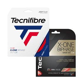 【パッケージ品】テクニファイバー エックスワンバイフェイズ(1.18mm/1.24mm/1.30mm)(レッドカラー)硬式テニス マルチフィラメントガット(X-ONE BIPHASE )