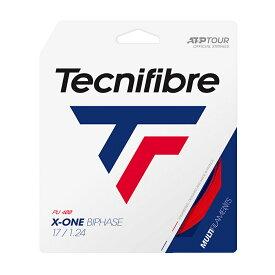 【パッケージ品】テクニファイバー エックスワンバイフェイズ(1.18mm/1.24mm/1.30mm)(レッドカラー)硬式テニス マルチフィラメントガット(Tecnifibre X-ONE BIPHASE )