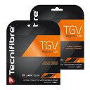 【12Mカット品】テクニファイバー TGV ブラック (1.25mm/1.30mm)硬式テニス マルチフィラメントガット(Tecnifibre TGV…