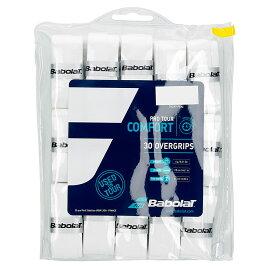 【NEWパッケージ】【30本入】バボラ プロツアー オーバーグリップテープ【ホワイト】 657002 (Babolat Pro Tour 30Pack)