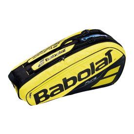 テニス 【6本収納】2019 バボラ ピュアアエロラケットバッグ 6本入 BB751182-191 ( 2019 Babolat Pure Aero Racket Holder x 6 ) 【2018年10月】(イエロー/ブラック)