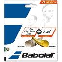 バボラ Babolat ハイブリッド プロハリケーンツアー1.25+エクセル1.30 ガット
