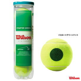 【応援クーポン10%OFF対象商品:6月21日まで】ウイルソン Wilson テニスボール スターター・プレー・ボール ノンプレッシャー(4球入り) WRT137400