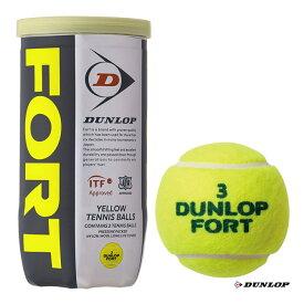 ダンロップ DUNLOP テニスボール DUNLOP FORT(ダンロップ・フォート) 2球入 1缶 DFEYL2TIN