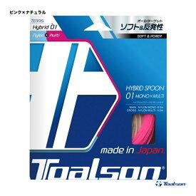 トアルソン(TOALSON) テニスガット 単張り ハイブリッドスプーン01モノ・マルチ(HYBRID SPOON 01 MONO×MULTI) ピンク×ナチュラル 7430127P