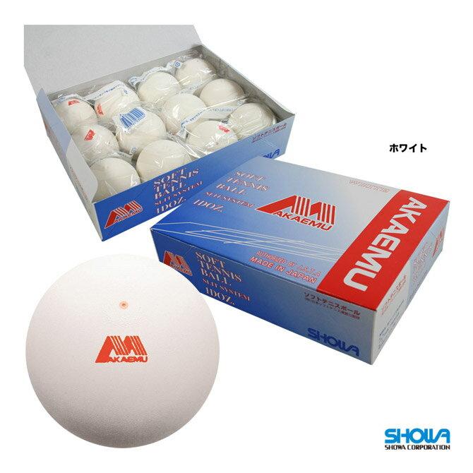 ショーワ(SHOWA) ソフトテニスボール アカエムボール 1箱(12球入) ホワイト M-30000