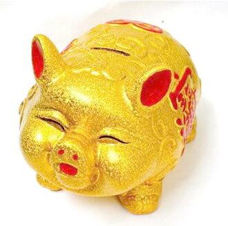 고급 금 돼지 저금통 (소)
