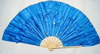 双扇舞和大型 (蓝色) 为左,右的手一套