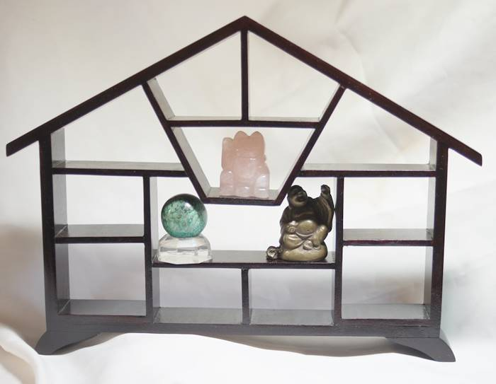 木製 珍品棚 茶架 家型 小サイズ