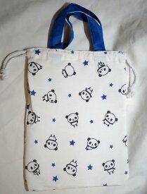 パンダ柄 持ち手付き 上履き用巾着袋 GE0911-5A