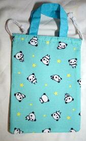 パンダ柄 持ち手付き 上履き用巾着袋 GE0911-5B