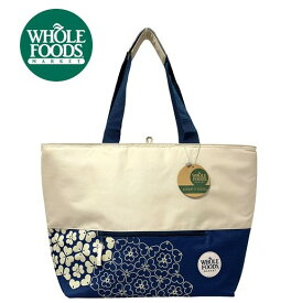 NEW ホールフーズマーケット Whole Foods 保温 保冷 ジップ付き エコバッグ トートバッグ クーラーバッグ クローバー 大容量