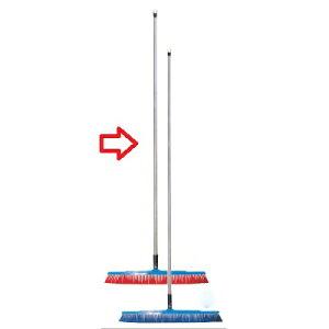 ブラシ バーキュート衛生管理用ほうき 幅広タイプ ソフト赤 62604105 450×1,130 /業務用/新品 /テンポス
