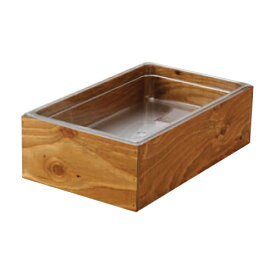 EBM 木製アイスボックス 1/1-H150mm ダークウォールナット塗装 幅527×奥行328×高さ162(mm)/業務用/新品/小物送料対象商品 /テンポス