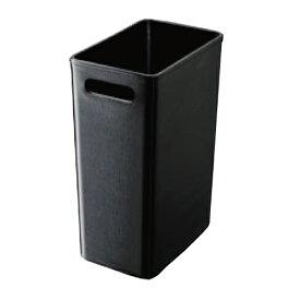 レザータッチ くず入れ 角大 ブラック 幅175×奥行264×高さ386(mm)/業務用/新品/小物送料対象商品 /テンポス