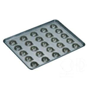 天板 25ヶ取 マロンケーキ型 シリコン加工 【 業務用 】【送料無料】 /テンポス