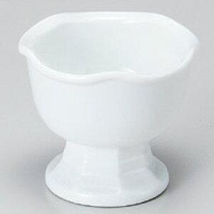 小鉢 白磁梅型高台珍味 高さ53mm×口径:62/業務用/新品 /テンポス