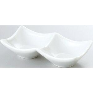 14cm 二連皿 白/プロ用