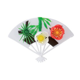 飾り 料理飾り 白扇松竹梅(50入) 幅93mm×奥行63mm/業務用/新品/小物送料対象商品