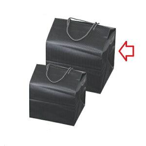 おせち 重箱バッグ 【手提げ付バッグ ブラック(大) 8.0寸~9.0寸用】幅284mm×奥行267mm×高さ357mm【業務用】