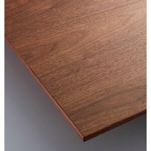 【受注生産品】CHERRY(チェリーレスタリア) テーブル天板 ウォールナット突板・木縁巻き 船底タイプ 幅600×奥行500mm/プロ用/新品/送料無料
