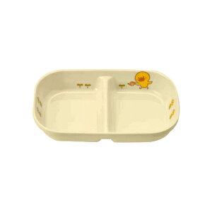 子供食器 角二ツ仕切皿 小 ひよこぐみ/新品/プロ用