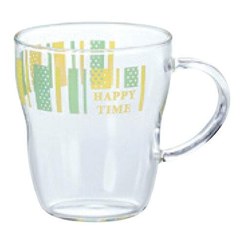 エルベール 生活雑貨 耐熱マグカップ(ストライプ柄) 高さ95(mm)/業務用/新品/小物送料対象商品