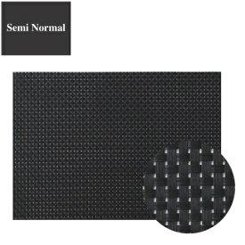 ランチョンマット COL.10ブラック&ブラックチェックエレガントマットセミノーマル 幅300 奥行220/業務用/新品 /テンポス