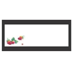 敷紙 箸置マット(100枚単位)いちご(1月〜4月) 幅380 奥行130/業務用/新品 /テンポス