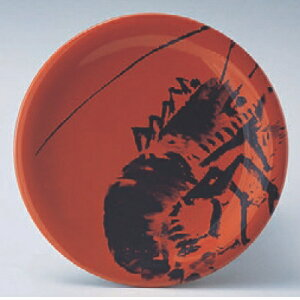 回転寿司皿 寿司皿朱エビ 高さ21 直径:150/業務用/新品 /テンポス