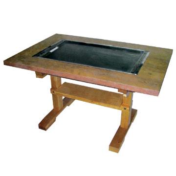 伊東金属お好み焼きテーブル幅800×奥行750×高さ700[IM-280P]【業務用】
