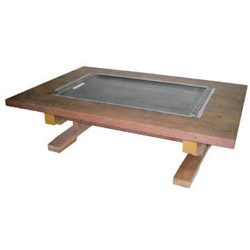 伊東金属お好み焼きテーブル幅1500×奥行800×高さ330[IM-5150H]【業務用】