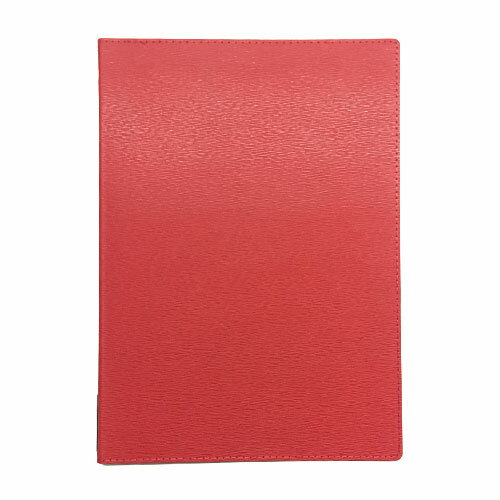 メニューブック 高級合皮 (A4 4ページ仕様) TOM-010 レッド (15冊入)【業務用/送料無料】
