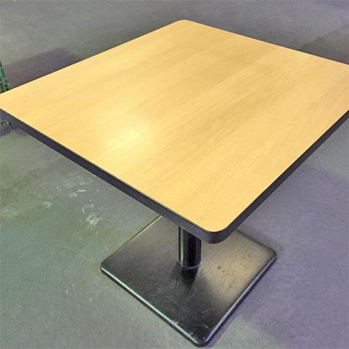 【中古】角テーブルナチュラル 幅700×奥行650×高さ670 【送料別途見積】【業務用】
