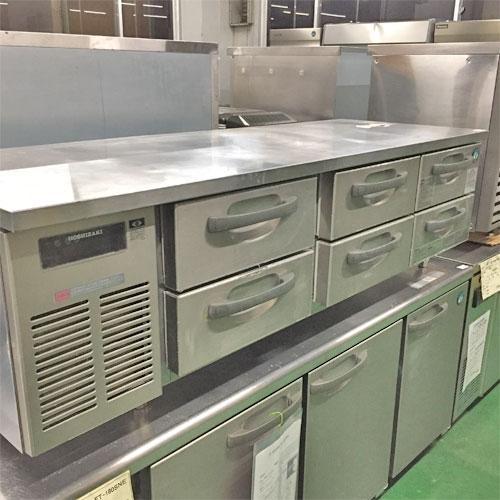 【中古】冷蔵ドロワーコールドテーブル ホシザキ RLT-165DNC 幅1650×奥行600×高さ600 【送料別途見積】【業務用】【厨房機器】