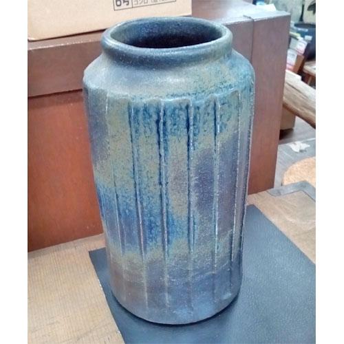 【中古】花瓶 蒼釉 幅1170×奥行675×高さ750 【送料無料】【業務用】