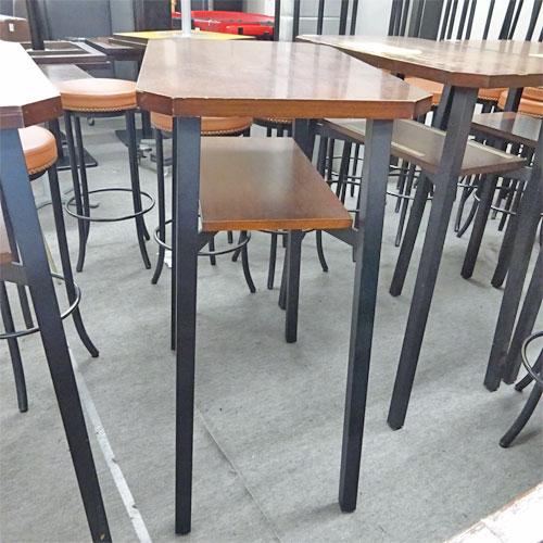 【中古】4本脚ハイテーブル 幅800×奥行500×高さ1050 【送料別途見積】【業務用】