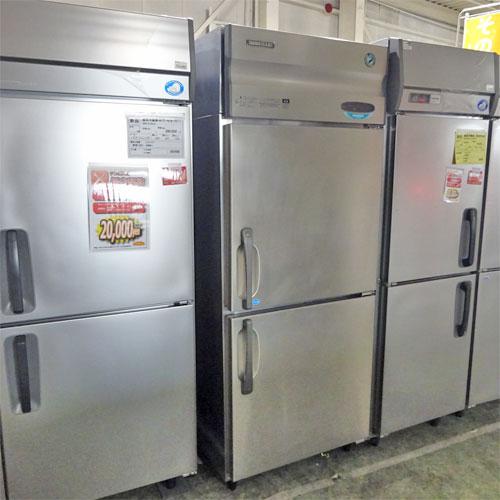 【中古】縦型冷凍冷蔵庫 ホシザキ HRF-75XT 幅750×奥行650×高さ1890 【送料別途見積】【業務用】