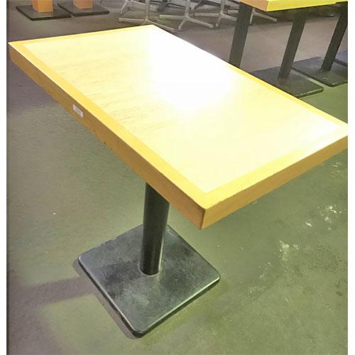 【中古】ナチュラルテーブル 幅550×奥行720×高さ700 【送料別途見積】【業務用】