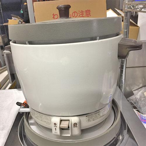 【中古】ガス炊飯器 リンナイ RR-20SF2 幅431×奥行334×高さ348 LPG(プロパンガス) 【送料別途見積】【業務用】