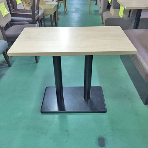 【中古】白木テーブル 幅950×奥行600×高さ700 【送料別途見積】【業務用】