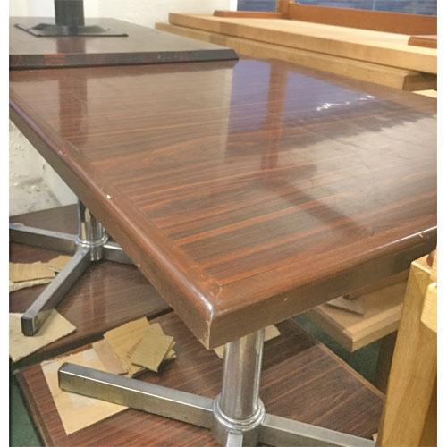 【中古】BR木縁洋風テーブル 幅700×奥行800×高さ700 【送料無料】【業務用】